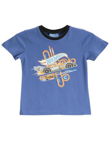Hot Wheels Hot Wheels Lisanslı İndigo Erkek Çocuk T-Shirt Gri